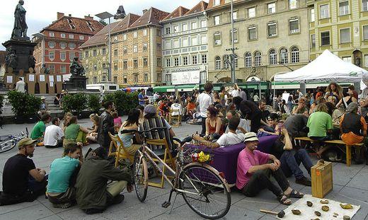 Das Punk-Protest-Picknick im Jahr 2004.