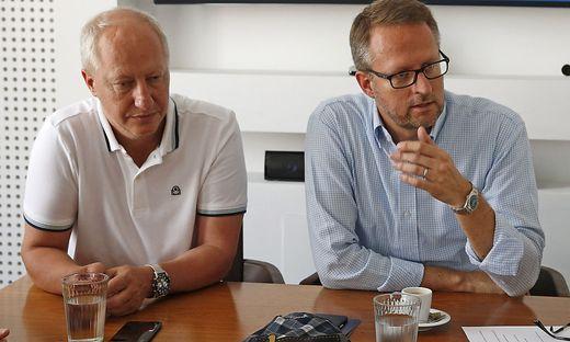 Der VSV (Geschäftsführer Wallisch und Marketing-Vorstand Peschel) ist wieder mit an Bord