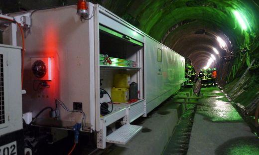 Mit dem Rettungszug wurden die Mineure evakuiert