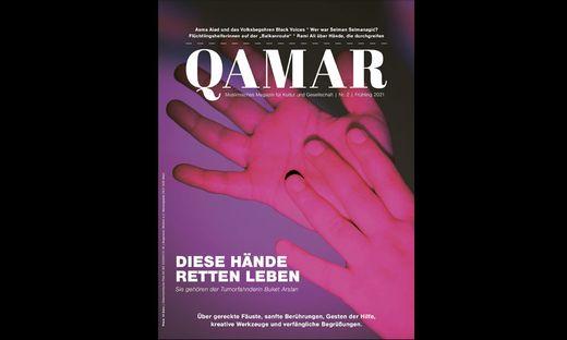 """Die zweite Ausgabe von """"Qamar"""" hat die Hand als Hauptthema."""