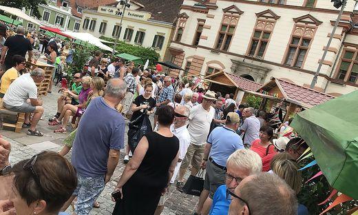 Veranstaltung auf dem Hauptplatz Hartberg