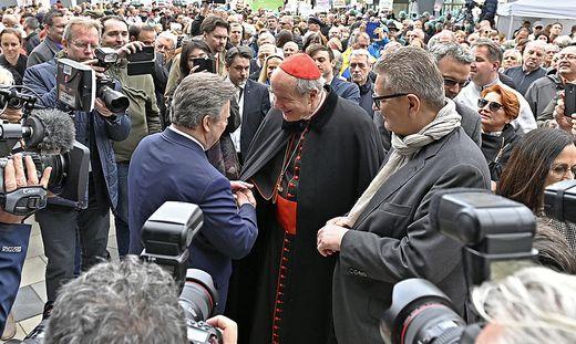 Bürgermeister Ludwig und Kardinal Schönborn kamen zum Tag der offenen Tür