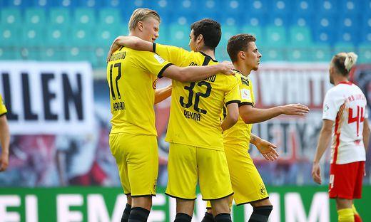 SOCCER - 1. DFL, RB Leipzig vs Dortmund