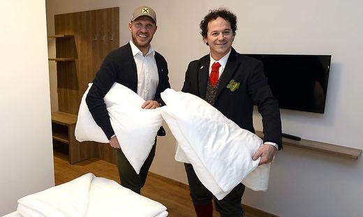 Hermann Maier und Rainer Schönfelder sind nun Hoteliers