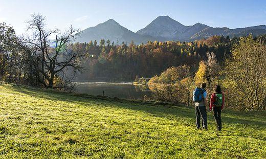 aichwaldsee, Huettenkult, Wandern Region Villach