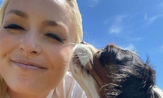 Lindsey Vonn und ihre Hündin Lucy