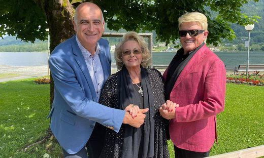 Heino kam mit Gattin Hannelore, Tourismuschef Georg Overs begrüßte die beiden