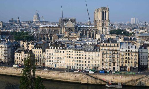 Die schwer beschädigte Kathedrale