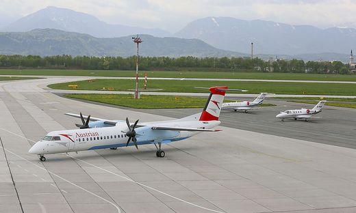 Flug von Klagenfurt nach Wien wegen technischer Probleme abgesagt: Das Flugzeug durfte nicht mehr starten. Es wird jetzt genau durchgecheckt (Symbolfoto)