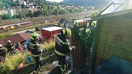 Explosion in Kleingartensiedlung in Mürzzuschlag