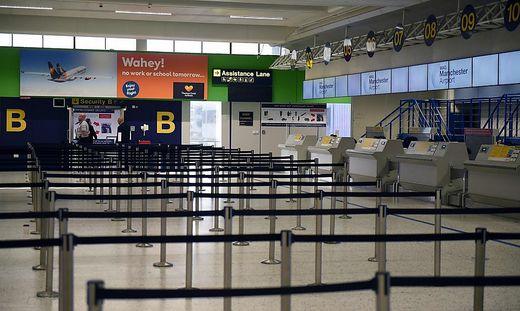 Der Flughafen in Manchester