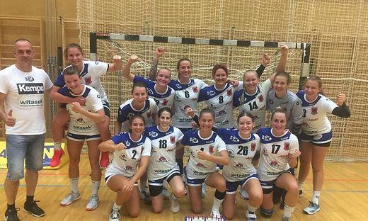 Die jungen Kärntner Handballerinnen feierten gegen Perchtoldsdorf einen ganz souveränen Auswärtssieg