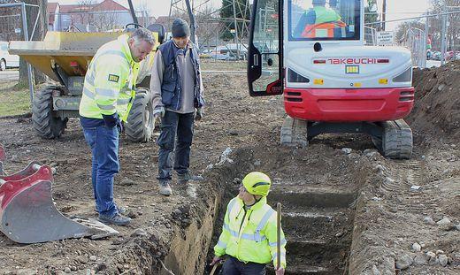 Stiegenabgang zu einem Bunker: Der Fund war nicht überraschend, die Spuren des Lagers sind unübersehbar für das Auge des Archäologen