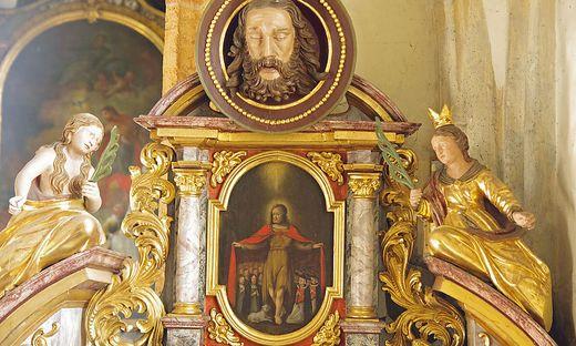 Johannes der Täufer breitet nur in Mürzhofen den Mantel aus