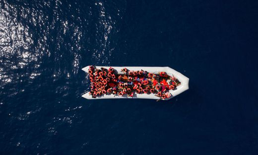 Flüchtlingsboot aus Libyen