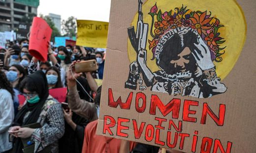 Frauen demonstrieren in Pakistan