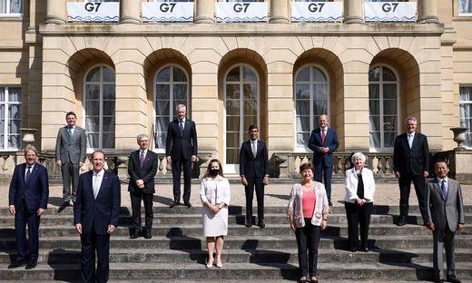 Gruppenbild beim G7-Treffen in London