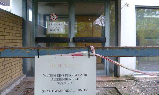 Einsturzgefahr: Die Hermann-Kaserne in Leibnitz