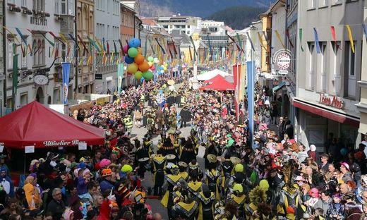 20.000 Besucher kommen jährlich zum Faschingsumzug in die Villacher Innenstadt