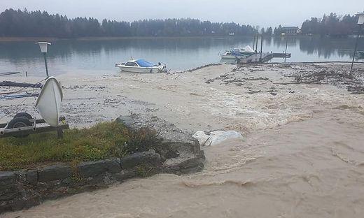 Hochwasser am Faaker See