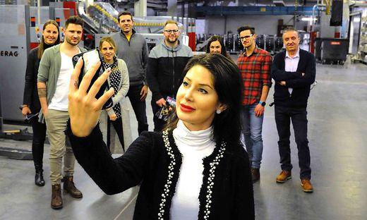 Auch in der Druckerei gilt: Selfie muss sein