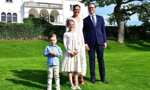 Schwedische Royals: Kronprinzessin Victoria mit Ehemann Daniel und den beiden Kinder Estelle und Oscar