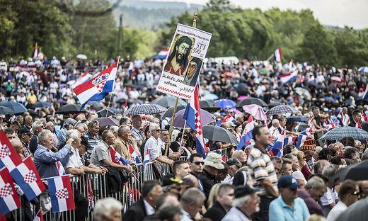 Zehntausende Kroaten werden auch heuer wieder am Loibacher Feld bei Bleiburg erwartet erwartet