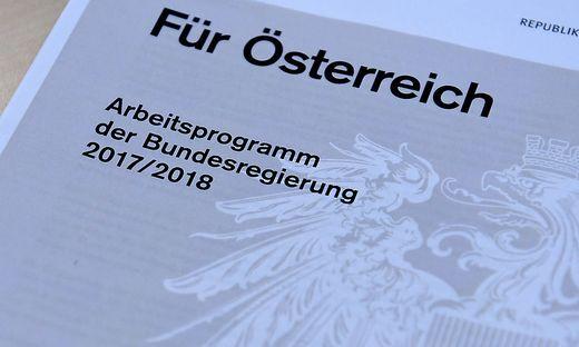 ARBEITSPROGRAMM DER BUNDESREGIERUNG
