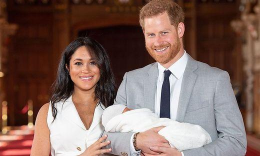 Die Herzogin und der Herzog von Sussex mit Sohn Archie