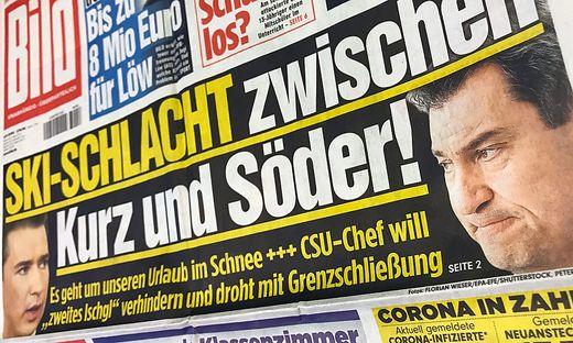 """Deutsche """"Bild"""" schreibt bereits von """"Ski-Schlacht zwischen Kurz und Söder"""""""