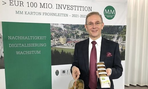 Peter Oswald, Vorstandschef der Mayr-Melnhof Karton AG
