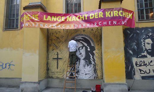 Das neue Maria Magdalena-Graffito