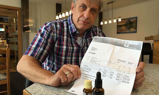 Richard Wild (51) ist entschlossen seiner Tochter die Cannabis-Präparate zu sichern.