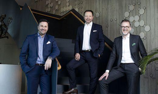 Gesamtvorstand der Merkur Versicherung: Helmut Schleich, Christian Kladiva, Ingo Hofmann