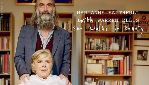 Marianne Faithfull und Warren Ellis, der für die musikalische Bearbeitung der Gedichte hauptverantwortlich zeichnet