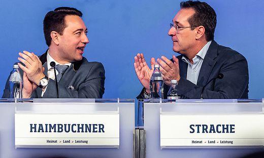 LANDESPARTEITAG DER FPOe OBEROeSTERREICH: HAIMBUCHNER/ STRACHE