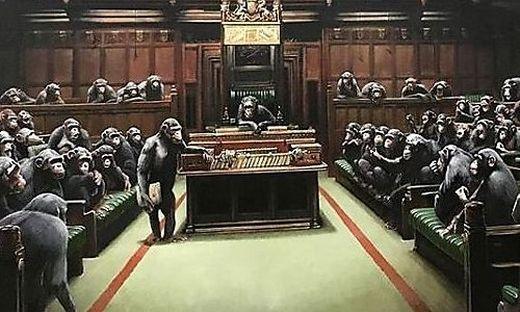 Banksy postete das Bild auf seiner Instagram-Seite
