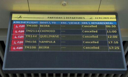 Flüge in Mosambik wurden abgesagt