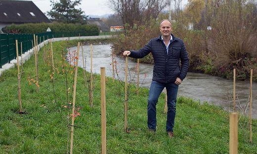 Siegfried Juri von der Wasserbauverwaltung in St. Andrä beim Kleinen Weißenbach