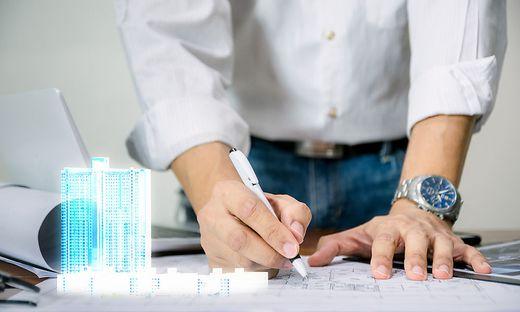 Mit digitalisierten Bauplänen fällt es Betrachtern leichter, sich das zukünftige Gebäude vorzustellen