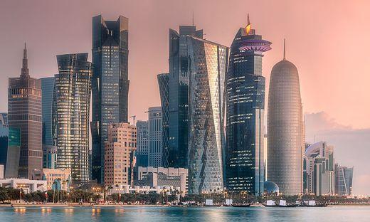 Die Skyline in Doha