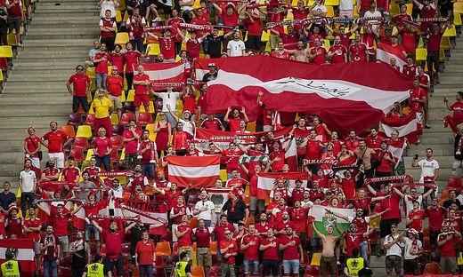In Bukarest waren zahlreiche Österreich-Fans dabei
