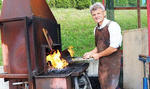 Gebhard Bergner wendet bei seiner Arbeit alte Techniken an