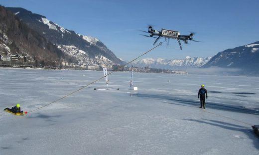 Rettung nach Einbruch ins Eis mit Hilfe von Drohne geglückt