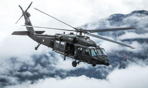 Ein Blackhawk des Bundesheeres