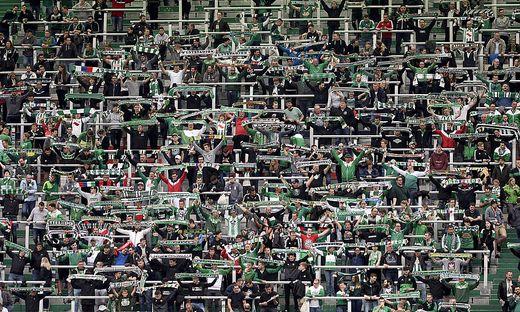 FUSSBALL TIPICO BUNDESLIGA/EUROPA-LEAGUE-PLAY-OFF/HALBFINALE:  SK RAPID WIEN - SV MATTERSBURG
