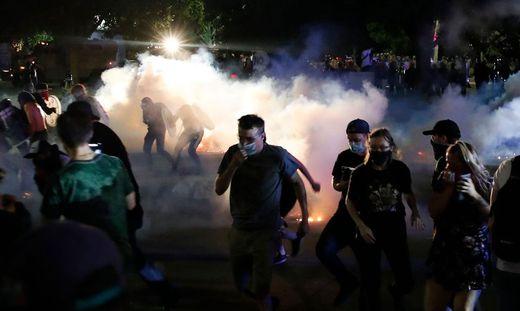 Proteste gegen Polizeigewalt in der US-Stadt Kenosha