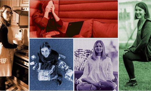 Sandra Mathelitsch, Katharina Siuka, Katrin Fischer, Martina Marx, Sarah Ruckhofer (im Uhrzeigersinn)