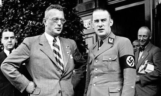 Globocnik (rechts) und Arthur Seyß-Inquart, nationalsozialistischer Kurzzeit-Bundeskanzler Österreichs