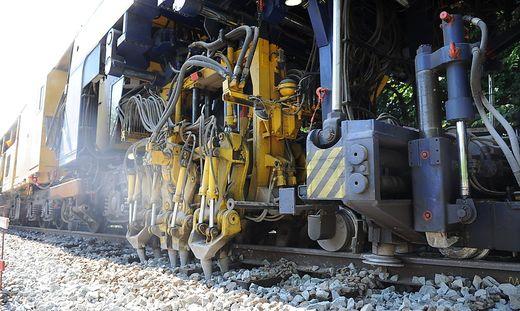 Gleisbau- und Erhaltungsarbeiten werden durchgeführt